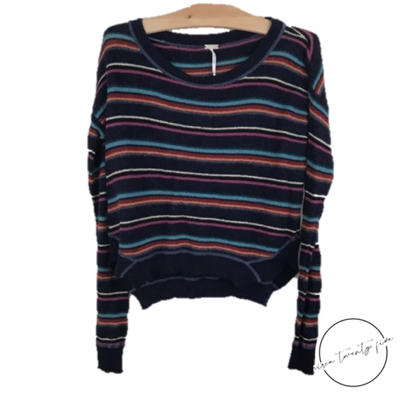 Free People Sweaters - Free People FP Beach Knit Striped Sweater XS